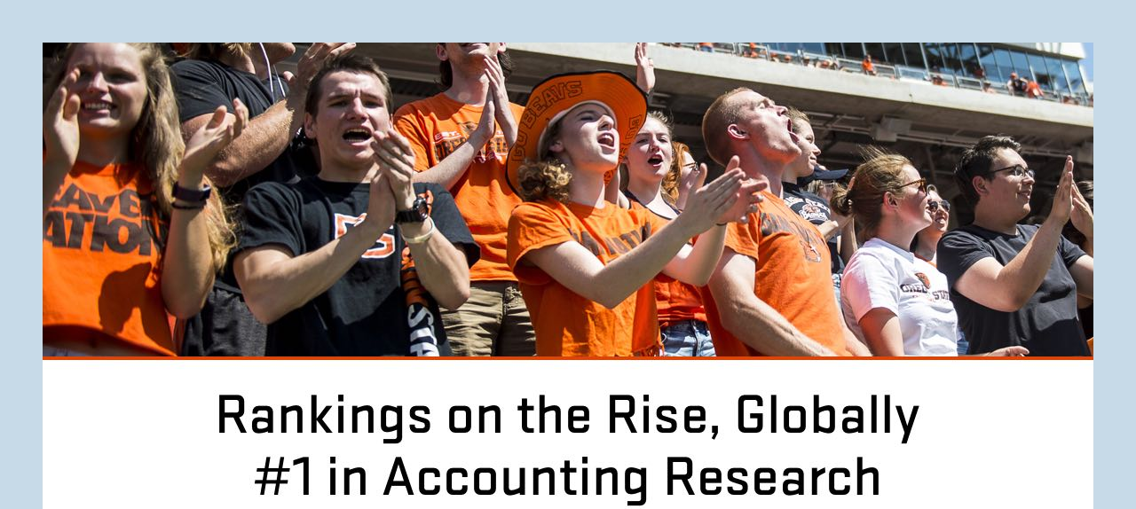 Rankings on the Rise, Global #1 for Accounting Research